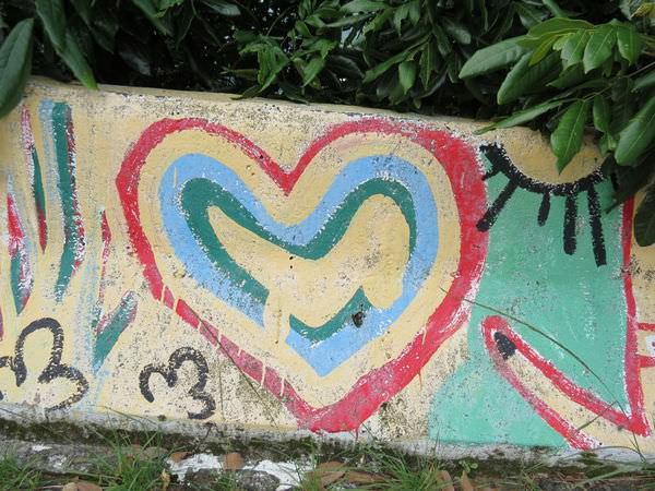 闕小豪的100顆愛心, 160725, 塗鴉愛心, 大鋤花間咖啡生態農場