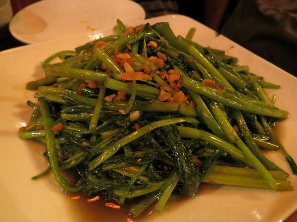 銘記越南美食, 餐點, 蝦醬空心菜