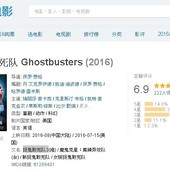 Movie, Ghostbusters(美) / 魔鬼剋星(台) / 超能敢死队(中) / 捉鬼敢死隊3(港), 評分網站, 豆瓣