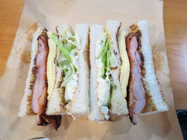 高三孝碳烤吐司@內湖江南店, 餐點, (西西里)雞腿排總匯三明治