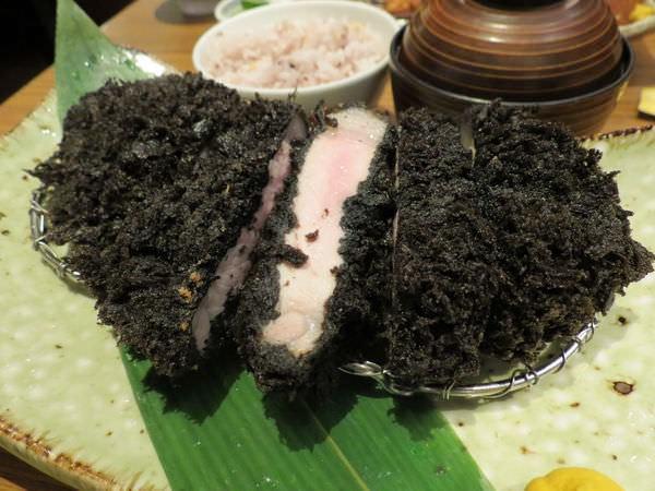 伊勢路-勝勢日式豬排@微風松高店, 餐點, 極黑 黑豚里肌豬排套餐(黑豚里肌豬排)