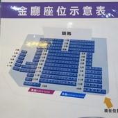 萬代福影城, 3F, 影廳, 金廳, 座位示意圖