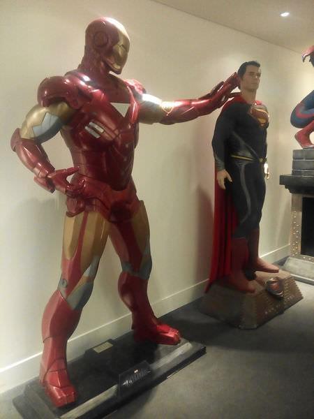 台中新光影城, 13F, 模型區, 鋼鐵人+超人
