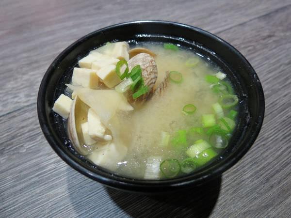 爭鮮定食8@大直薇閣店, 花蛤味噌湯