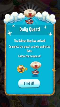 Pet Rescue Saga, Daily Quest(每日任務)