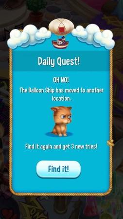 Pet Rescue Saga, Daily Quest(每日任務)