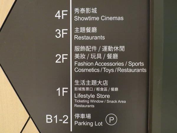 秀泰廣場, 樓層分佈