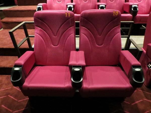 嘉義秀泰影城, 電影廳, 座椅