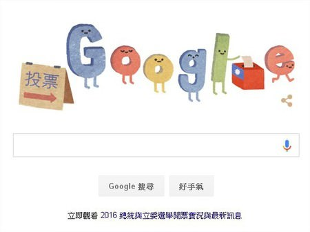 Google, 2016年台灣總統大選