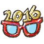 Facebook, 貼圖商店, 新年快樂