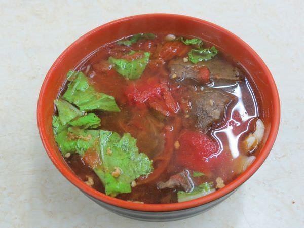 四平街蕃茄牛肉麵, 蕃茄牛肉麵