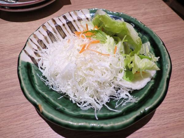 靜岡勝政日式豬排@美麗華店, 餐點, 高麗菜絲