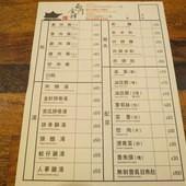西門金峰魯肉飯(西門店), 點菜單