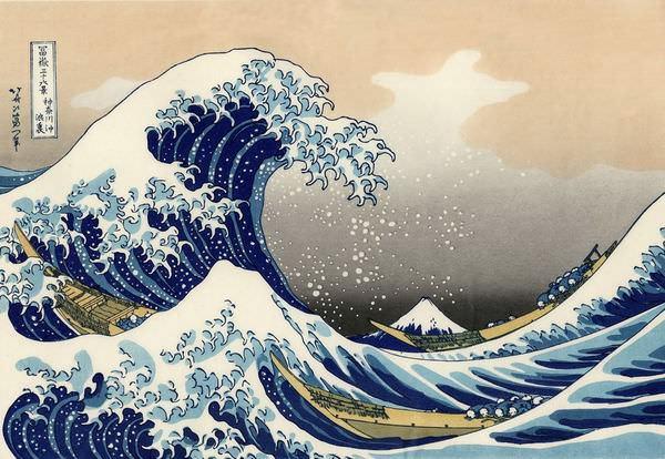 Paintings, 神奈川沖浪裏(冨嶽三十六景), 葛飾北齋