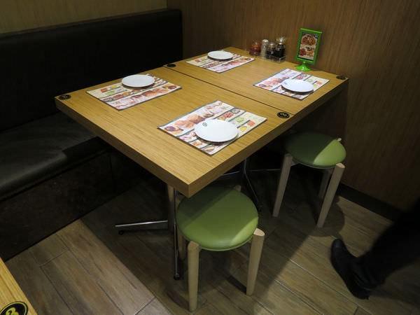 添好運點心專門店@台北信義店, 用餐環境, 桌椅
