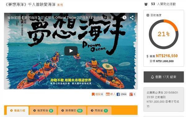 Movie, 夢想海洋 / Dream Ocean, 募資活動