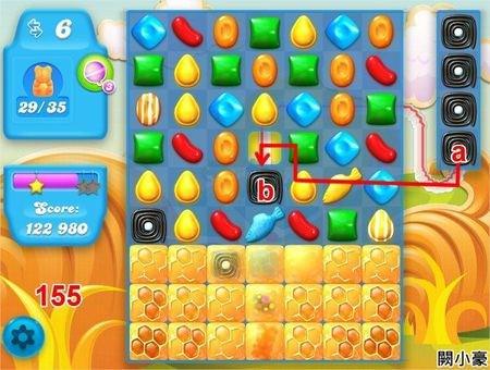 Candy Crush Soda Saga, 過關技巧, Level 155
