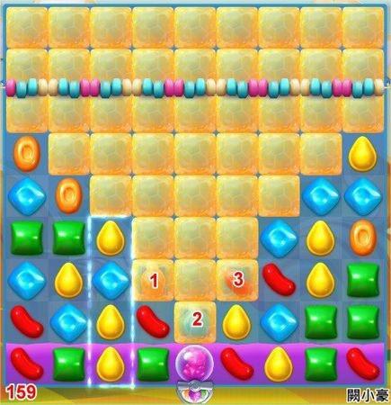 Candy Crush Soda Saga, 過關技巧, Level 159