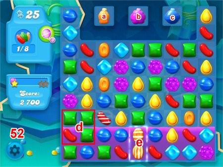 Candy Crush Soda Saga, 過關技巧, Level 52