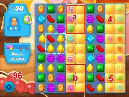 Candy Crush Soda Saga, 過關技巧, Level 96