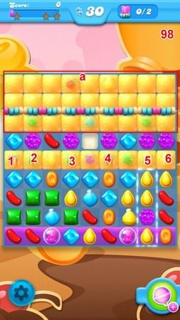 Candy Crush Soda Saga, 過關技巧, Level 98