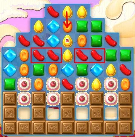 Candy Crush Soda Saga, 遊戲過關技巧, 湊彩色糖果技巧