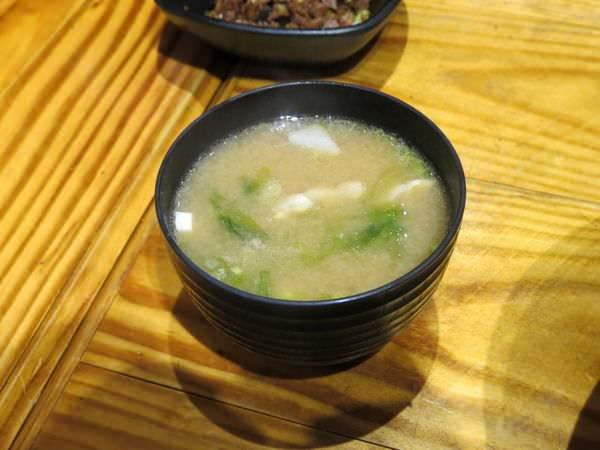 十盛平價板前壽司屋, 味增湯