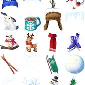 Facebook, 貼圖商店, 冬日仙境