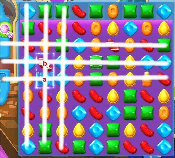 Candy Crush Soda Saga, 條紋糖果 + 包裝糖果