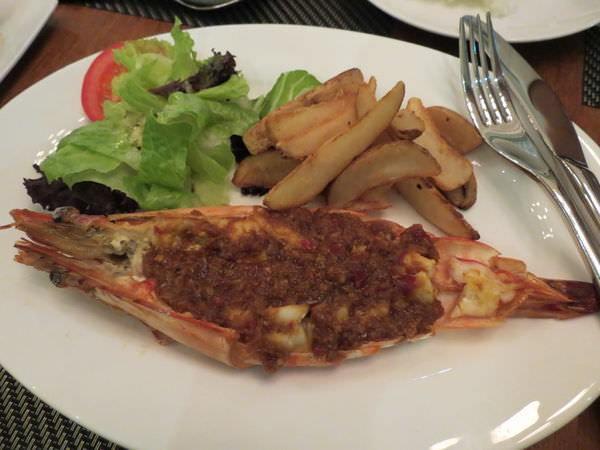 新帆船澳門葡國餐廳, 餐點, 辣汁燒大蝦