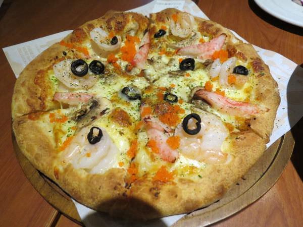 瓦薩比薩(Vasa Pizzeria)(北市松山車站店), 法式蝦蟹洋菇披薩(9吋)(厚餅皮)