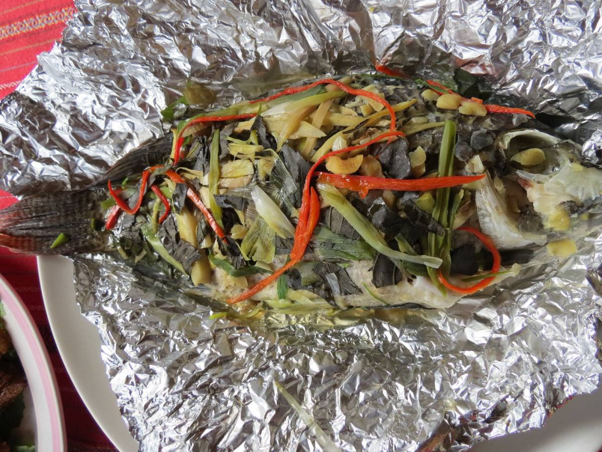 比亞外部落, 桃園縣, 復興鄉, 風味餐, 甜酒釀蒸魚