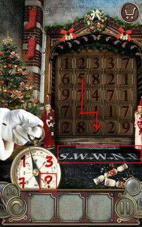 App, 逃出豪宅(Escape The Mansion), Christmas, Level 10, 解法
