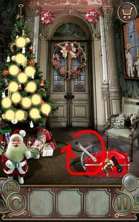 App, 逃出豪宅(Escape The Mansion), Christmas, Level 12, 解法