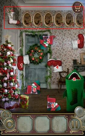 App, 逃出豪宅(Escape The Mansion), Christmas, Level 17, 解法