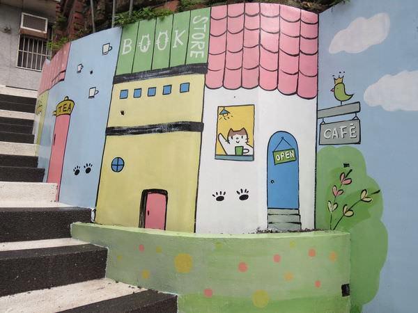猴硐貓村, 貓咪壁畫