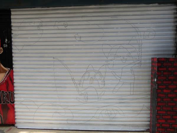 台中動漫彩繪巷(海賊王彩繪), 魔物獵人, 艾路村