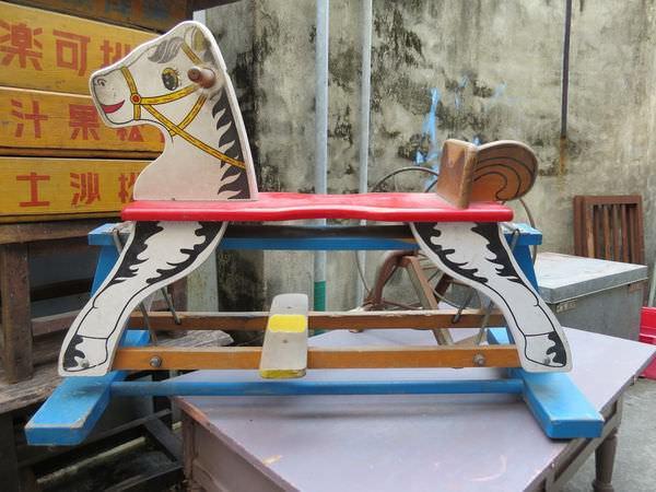 台中動漫彩繪巷(海賊王彩繪), 古早木馬
