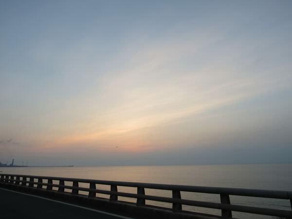 夕陽, 林口火力發電廠