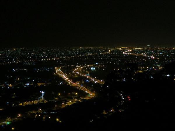 蘭陽平原夜景(九彎十八拐處), 2014年環島