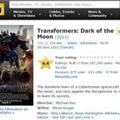 Movie, Transformers: Dark of the Moon(變形金剛3)(變形金剛3:黑月降臨), IMDb