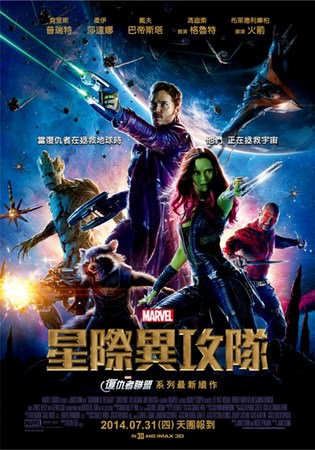 Movie, Guardians of the Galaxy(星際異攻隊)(银河护卫队)(銀河守護隊), 電影海報