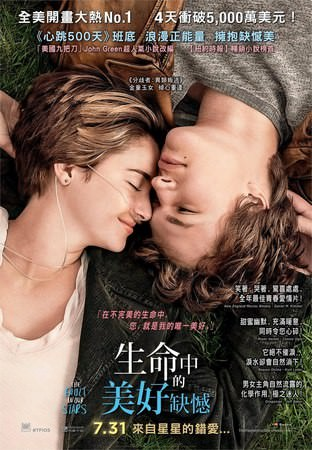 Movie, The Fault in Our Stars(生命中的美好缺憾)(星运里的错), 電影海報