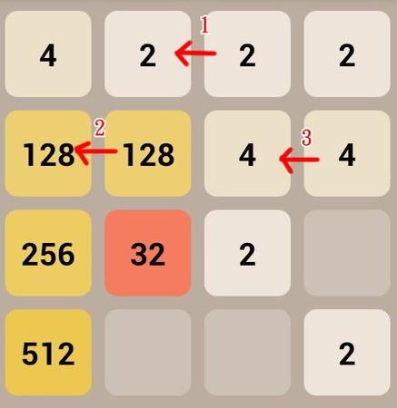 APP, game, 2048, 遊戲技巧