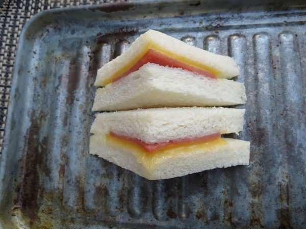 松華堂冷凍厚片土司, 三明治
