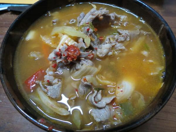 小如東北酸菜白肉麵館, 韓式泡菜麵