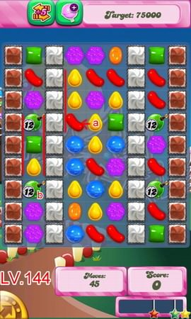 Candy Crush Saga Level 144
