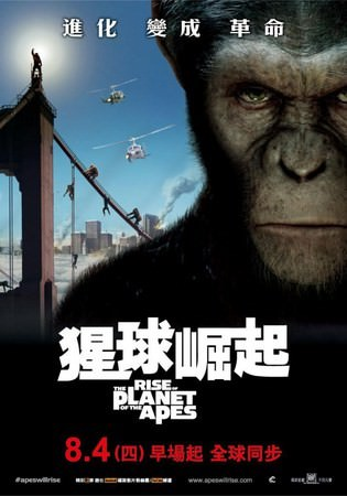 Movie, Rise of the Planet of the Apes(猩球崛起)(猿人爭霸戰:猩凶革命), 電影海報