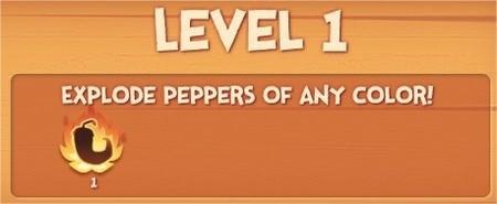 Pepper Panic Saga, goal, Explode peppers