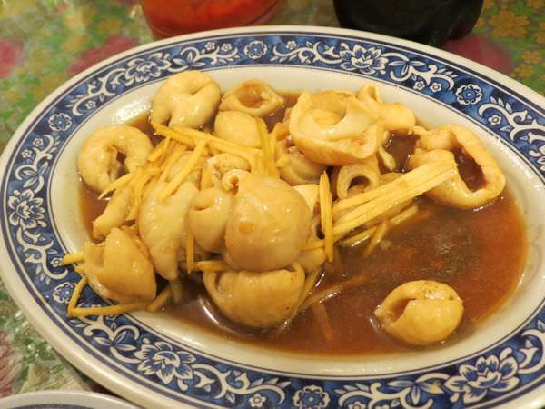 利興飲食店(內灣黃婆婆客家菜), 薑絲炒大腸